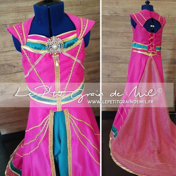 costume de jasmine le film rose pour enfant femme fait main sur mesure luxe original