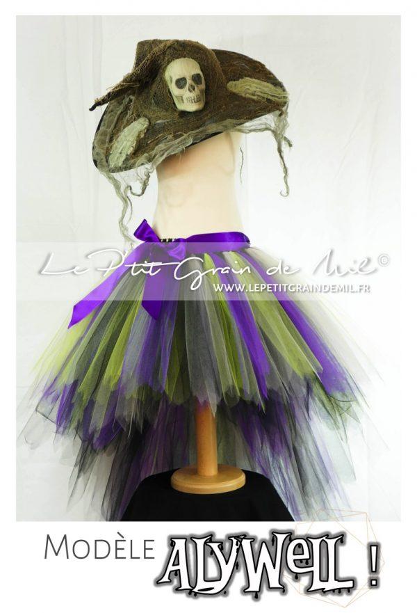 déguisement de sorciere fille jupe tutu halloween carnaval