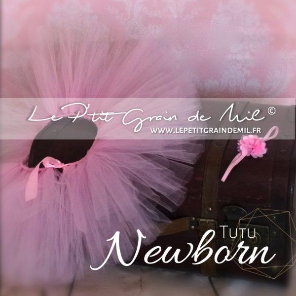 jupe tutu bébé rose naissance newborn nouveau né shooting photo séance photographe