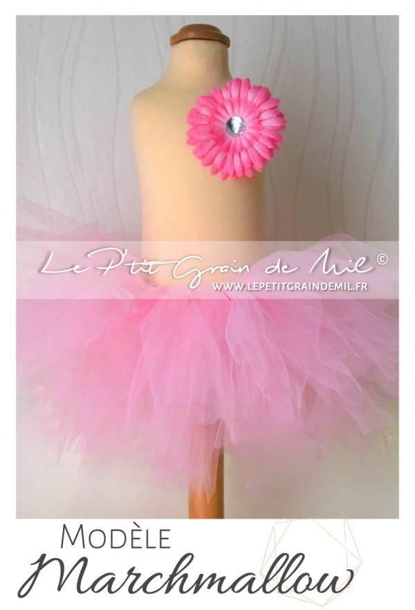 jupe tutu bébé rose poudré clair en tulle mariage bapteme ceremonie anniversaire