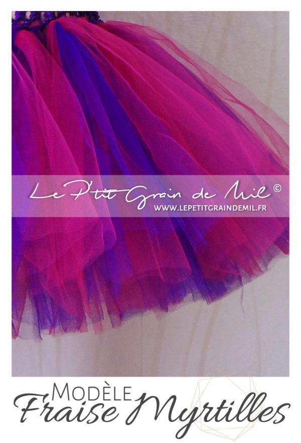 jupe tutu bébé rose violet pourpre en tulle mariage bapteme ceremonie anniversaire