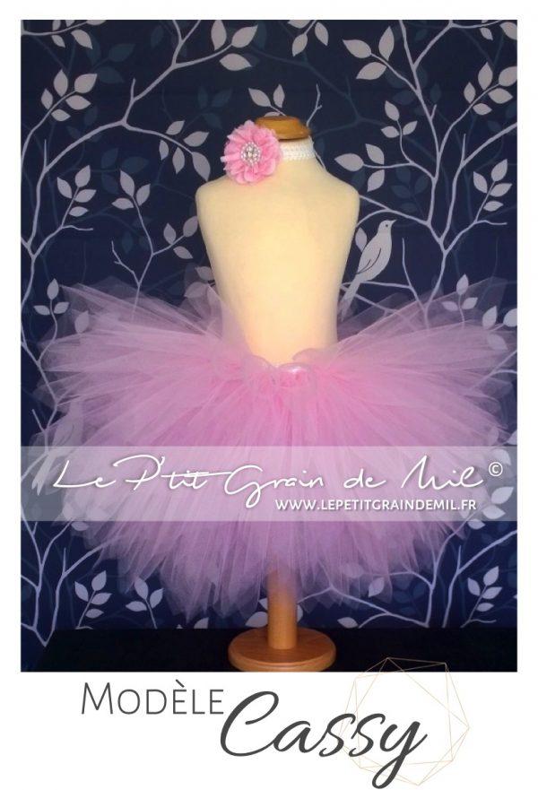 jupe tutu courte en tulle bouffant rose jupon tutu bébé petite fille femme mariage cérémonie danse