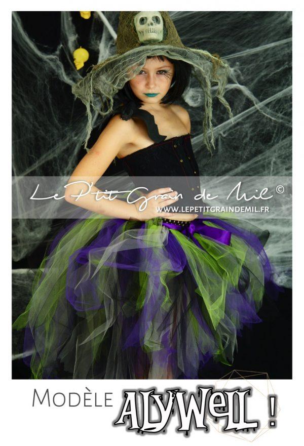 jupe tutu déguisement de sorciere halloween enfant costume original bébé fille halloween trick or treat - copie