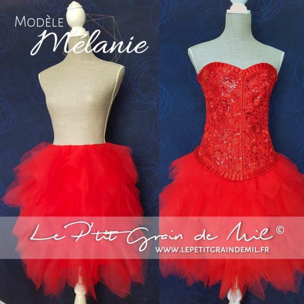 jupe tutu femme mouchoir de tulle bouffant mariage cérmonie robe de mariée rouge