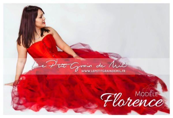 jupe tutu femme rouge bustier princesse cérémonie mariage mère fille séance shooting photo photographe