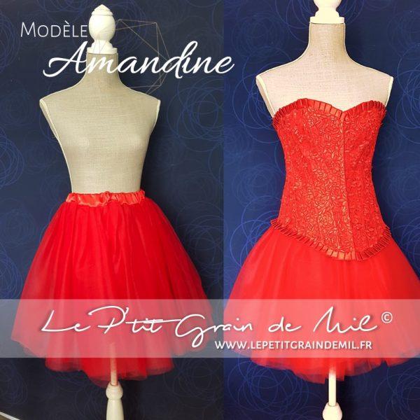 jupe tutu femme rouge noir mariage cérmonie robe de mariée rouge noir