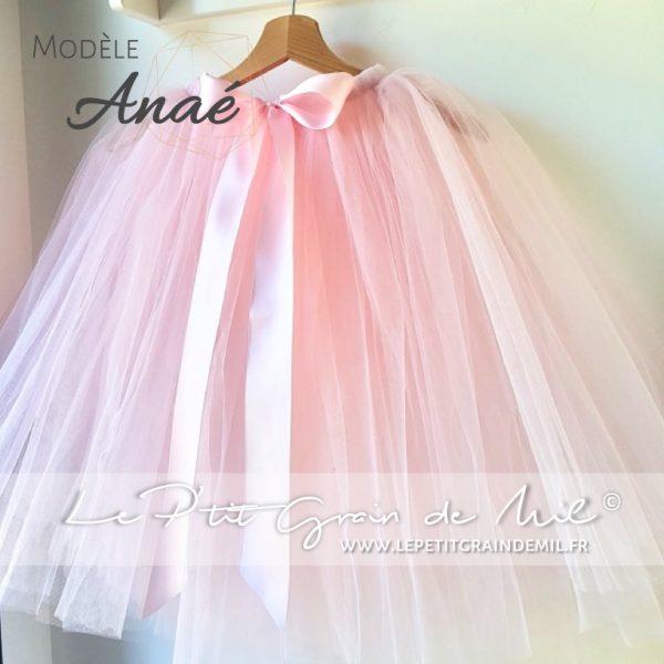 jupe tutu mi longue nude blush rose poudré femme enfant mariage cérémonie boheme