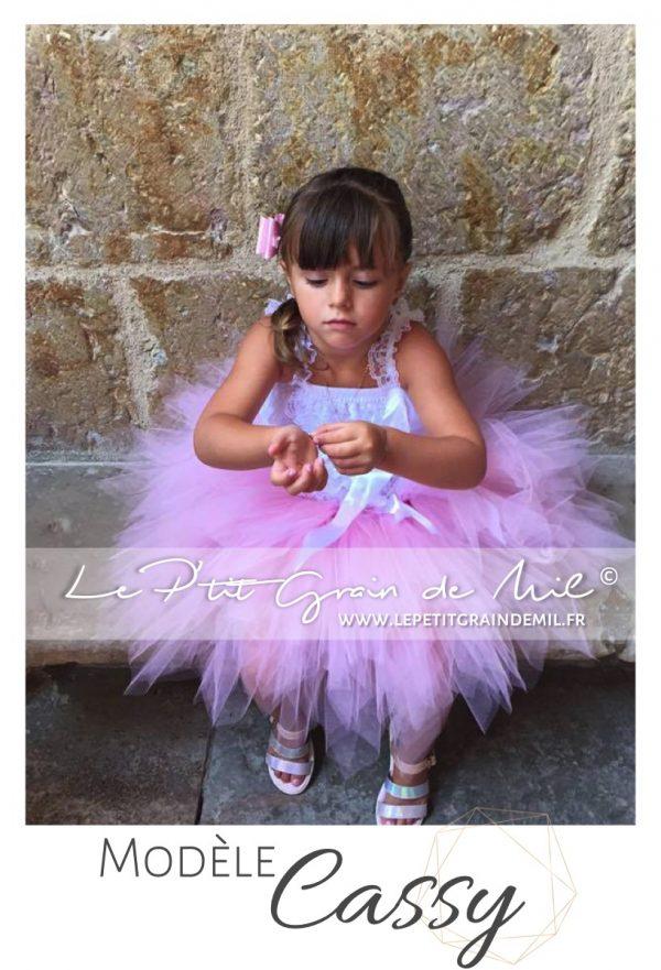 jupe tutu rose ultra bouffante pour fille demoiselle d'honneur mère fille mariage baptême cérémonie