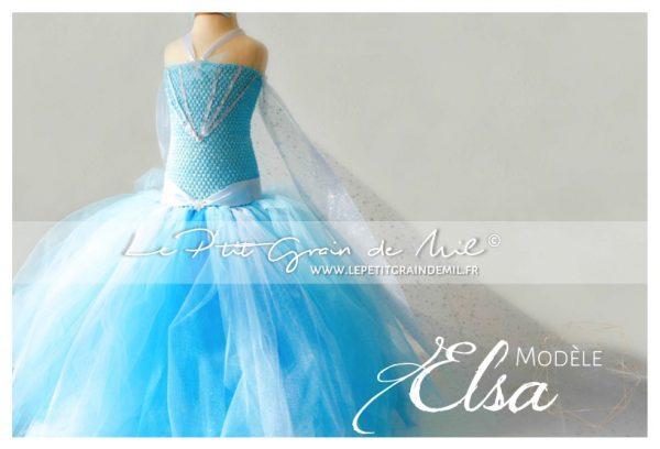 robe costume déguisement de la reine des neiges elsa