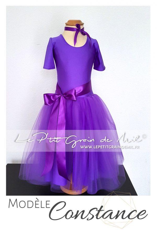 robe de cérémonie fille demoiselle d'honneur enfant bébé robe tutu princesse tulle