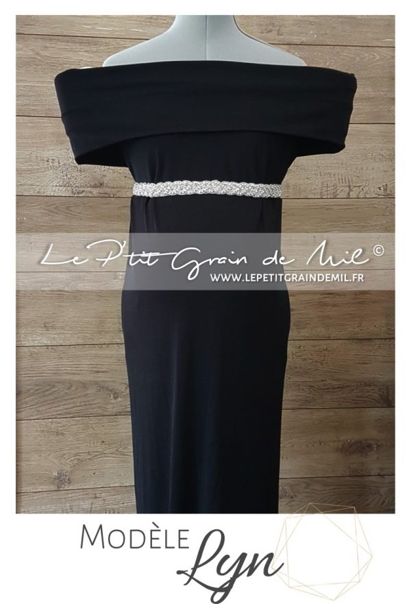 robe de grossesse soirée noir pour photo mariage femme enceinte shooting photo noël nouvel an