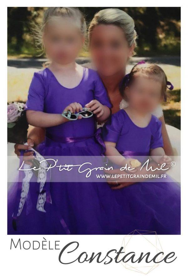robe demoiselle d'honneur fille tulle tutu cortege cérémonie mariage