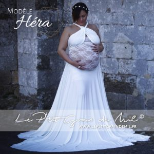 robe infinity drapée dentelle grossesse femme enceinte en dentelle shooting séance photo future maman