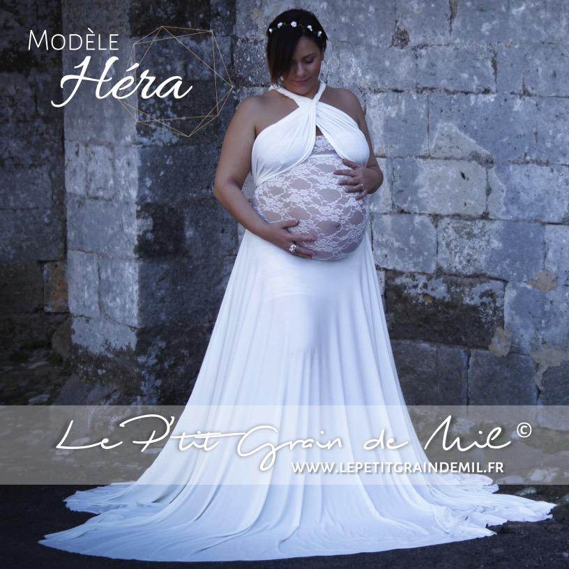 Robe Longue Drapee Maternite Shooting Grossesse Hera Le P Tit Grain De Mil