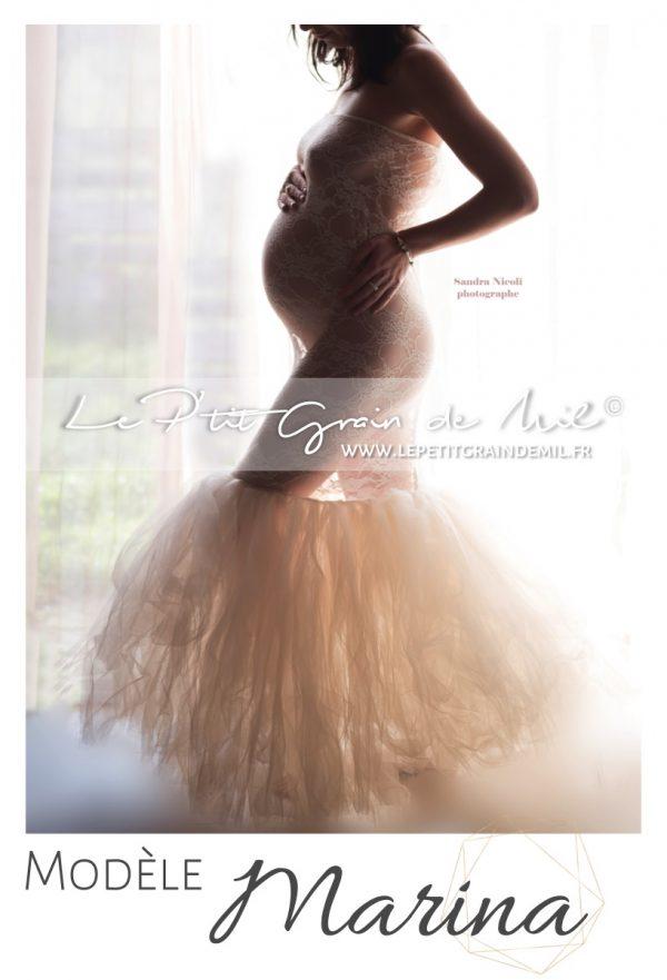 robe sirène en dentelle tutu grossesse shooting séance photo femme enceinte future maman