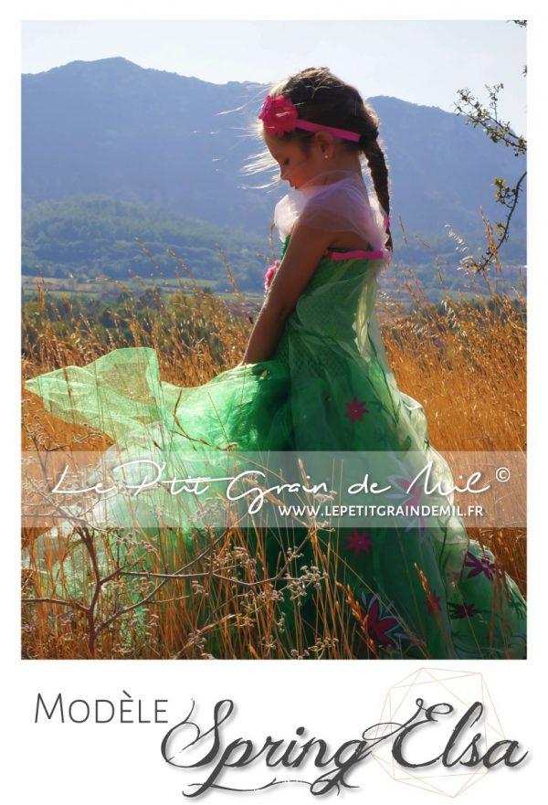 robe tutu costume de princesse elsa fête givrée reine des neiges 2
