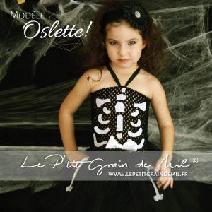 robe tutu déguisement halloween squelette bébé fille enfant
