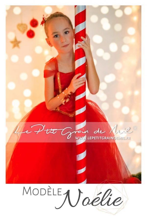 robe tutu de mère noel robe de noel fille robe pour noel rouge bordeaux et or