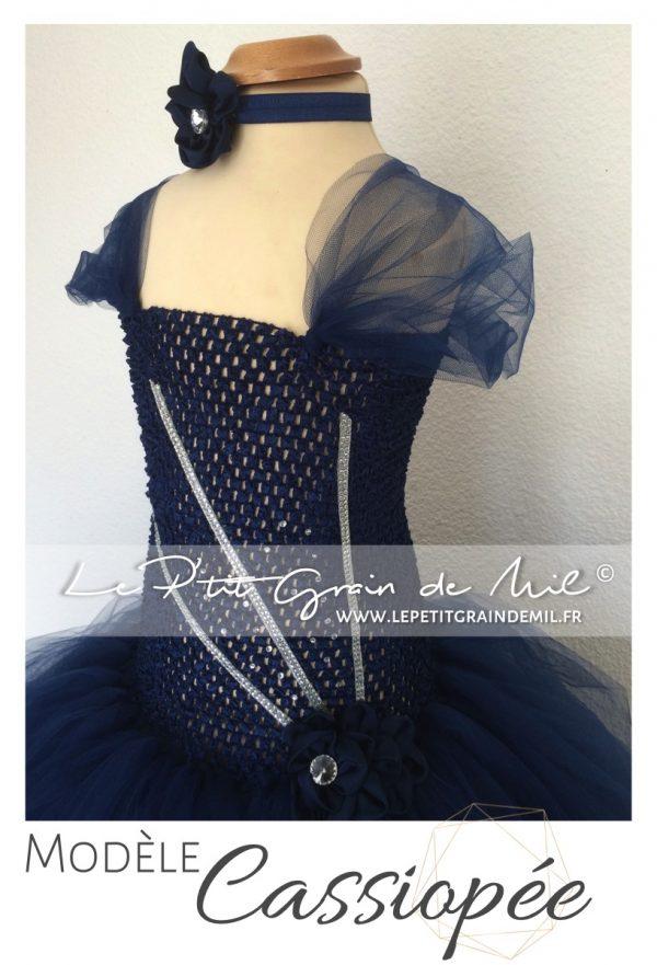 robe tutu de princesse pour petite fille bleu nuit taille 8 ans avec strass