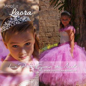 robe tutu de princesse vieux rose féérique 8 ans en tulle vieux rose