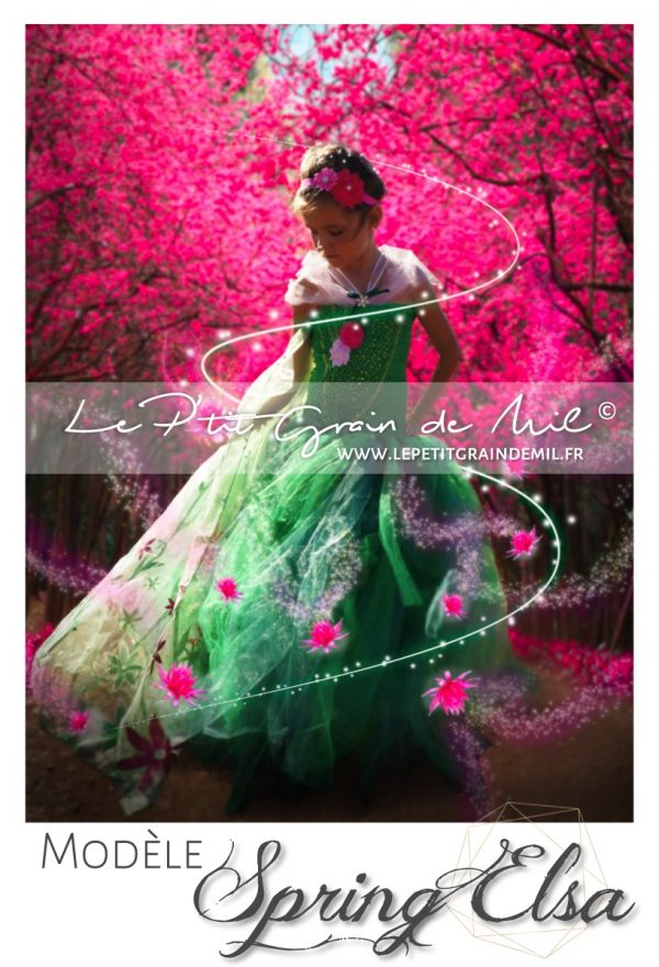robe tutu en tulle de princesse elsa reine des neiges costume elsa fête givrée reine des neiges 2 verte cape paillettes