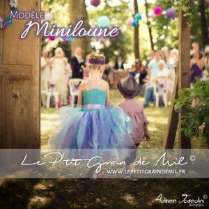 robe tutu fille cérémonie bohème mariage shabby pastel romantique demoiselle d'honneur turquoise mauve violet