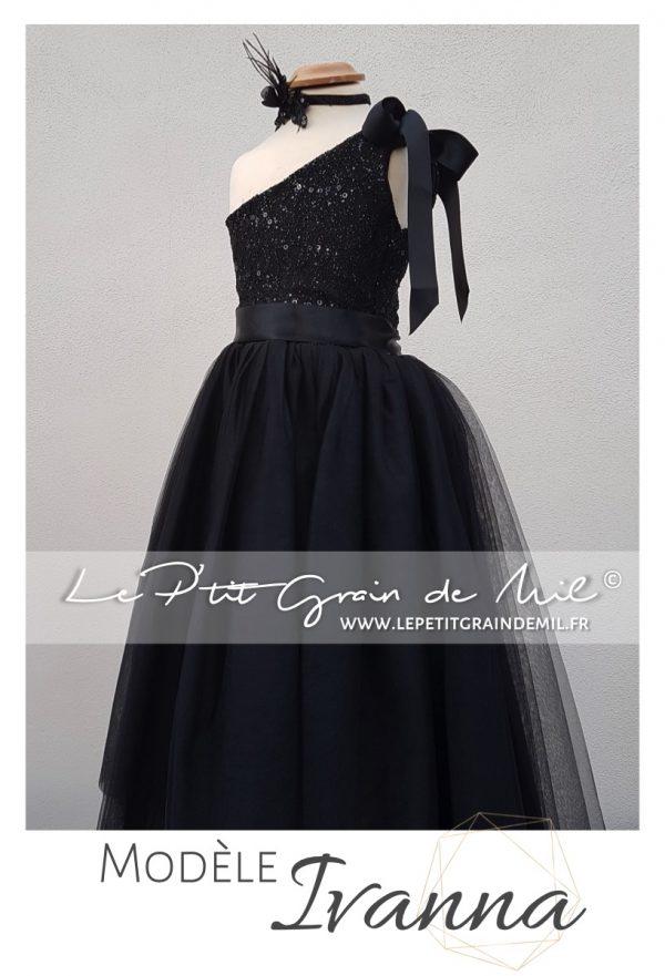 robe tutu noel noire cérémonie soirée paillettes