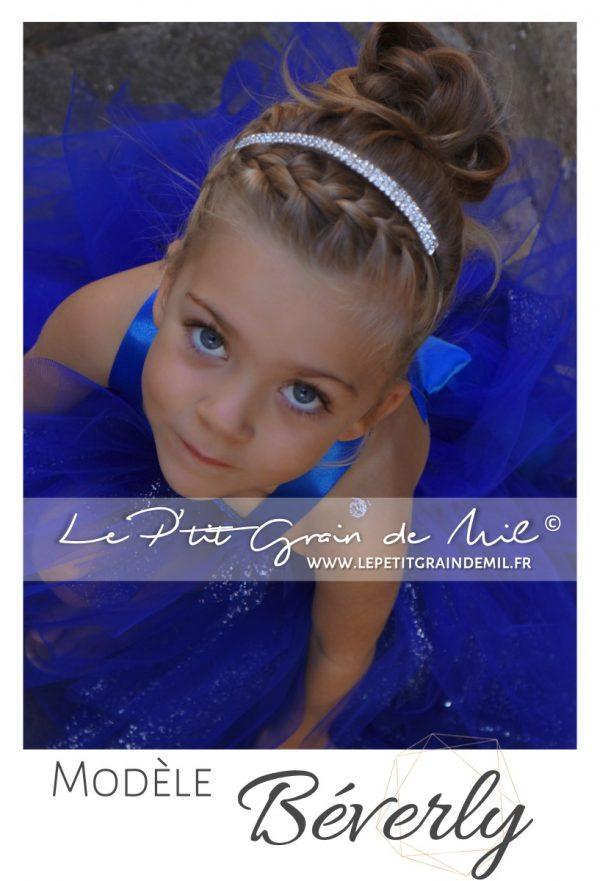 serre tête en strass brillant bébé petite fille baptême cérémonie mariage shooting photo