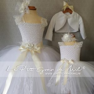 robe de cérémonie enfant fille boheme baroque vintage shabby dentelle tulle