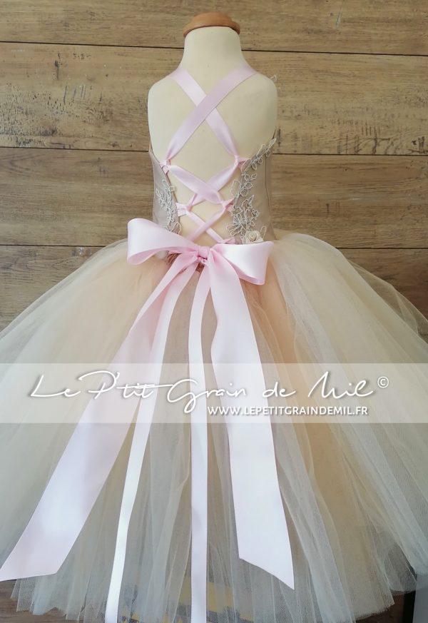 robe de princesse enfant mariage cérémonie baptême ultra volume robe tutu en tulle