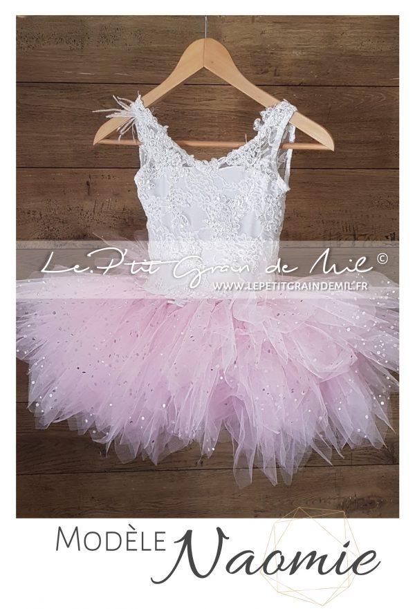 robe cérémonie mariage enfant fille princesse demoiselle d'honneur cortege paillettes