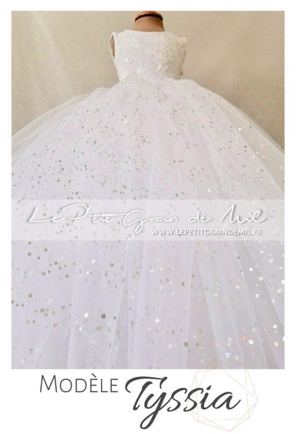 robe tutu de petite fille d'honneur pour mariage princesse en tulle paillettes
