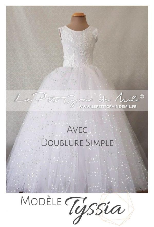 robe tutu de princesse cérémonie mariage petite fille d'honneur dentelle tulle paillettes