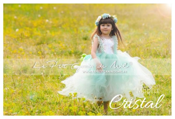 robe tutu de princesse sequins argent enfant fille cérémonie mariage annivesraire noel