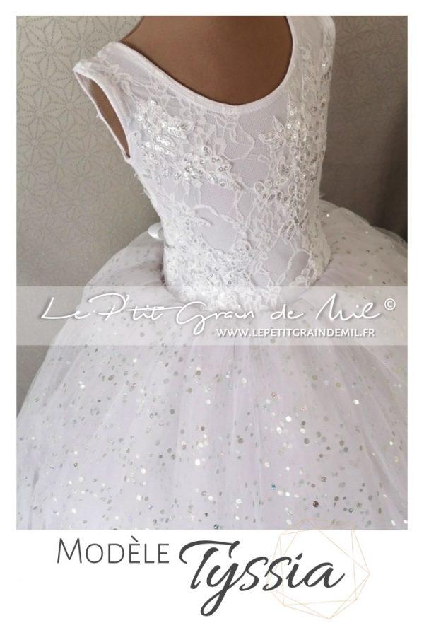 robe tutu princesse dentelle tulle demoiselle d'honneur cérémonie mariage dos nu