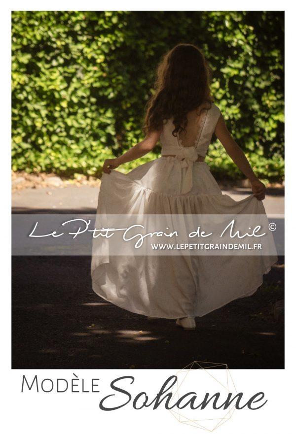 jupe bohème enfant petite fille mariage boheme cortège champêtre crop top enfant jupe à volant bohemienne