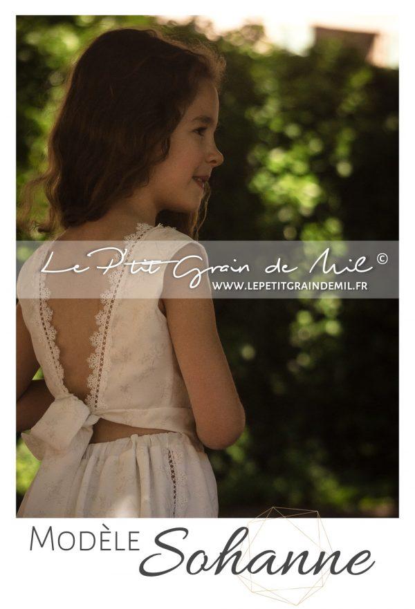 robe de cérémonie cortège petite fille mariage champêtre bohème chic