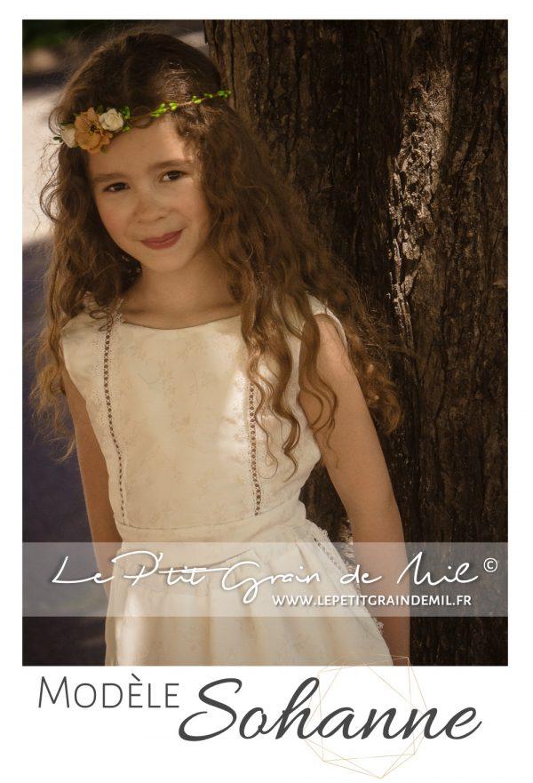 robe enfant cortège mariage champêtre bohème chic boho demoiselle d'honneur