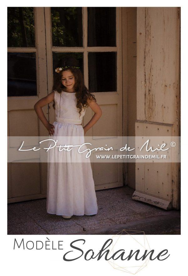 tenue cortège petite fille mariage boheme champêtre vintage dentelle