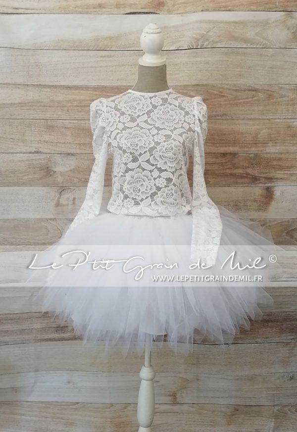 robe de mariée champêtre vintage chic tutu dentelle