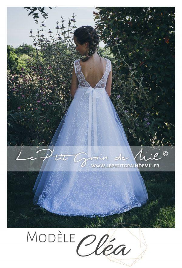 robe dentelle dos nu esprit bohème mariage robe de mariée princesse reine des neiges