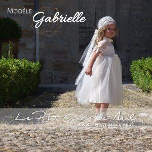 robe petite fille cérémonie bohème champêtre vintage années 50 dentelle tulle ivoire beige