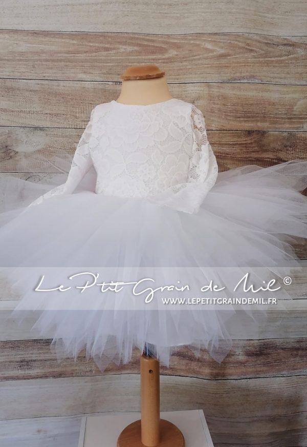 robe tutu dentelle mariage fille robe de cérémonie enfant