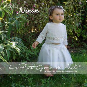 tenue cortège bébé petite fille mariage boheme champêtre vintage dentelle