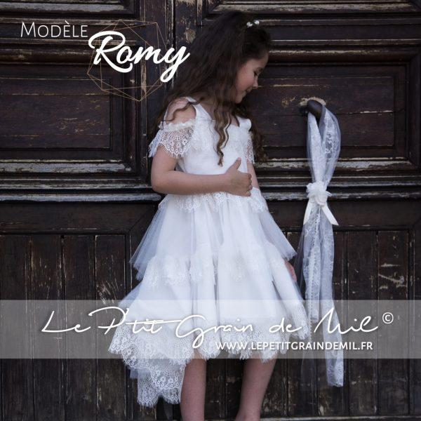 tenue cortège petite fille mariage champêtre boheme crop top enfant jupe à volant bohemienne dentelle