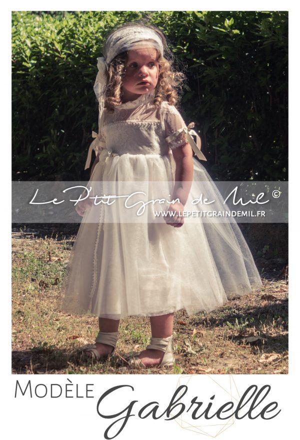 tenue cortège robe cérémonie bohème champêtre vintage années 50 dentelle tulle ivoire beige