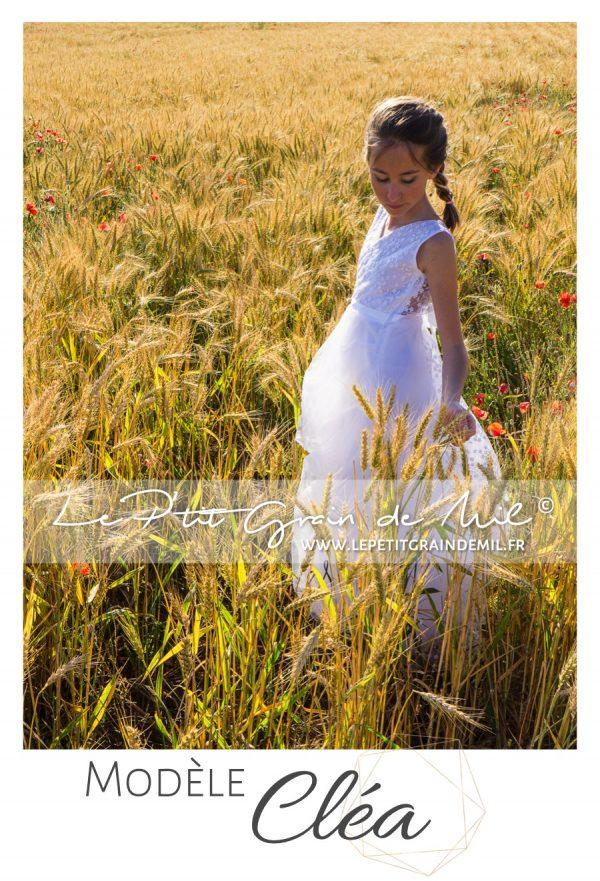 tenue robe esprit champêtre bohème mariage boho chic demoiselle d'honneur enfant fille femme