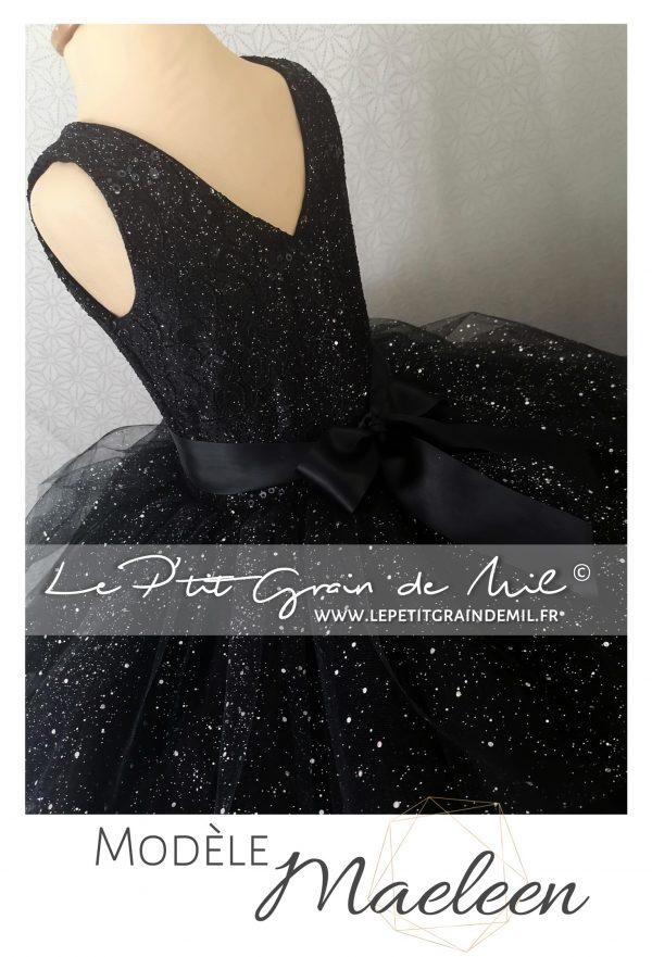 robe de princesse pour enfant ultra volume prestige paillettes volants dentelle mariage cérémonie fille 6 8 10 12 ans