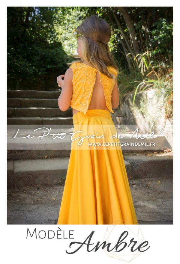 robe de cérémonie enfant boheme champêtre 8 10 12 14 ans créateur made in france