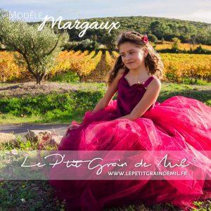 robe tutu cérémonie enfant bustier coeur bordeaux lie de vin mariage demoiselle d'honneur
